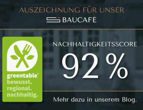 """Schwan Baucafé erhält  Greentable®-Siegel """"Nachhaltige Gastronomie"""""""